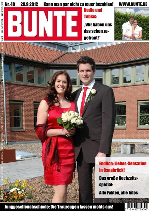 Hochzeitszeitung von Nadja und Tobias