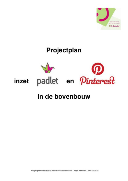 Projectplan Katja van Well