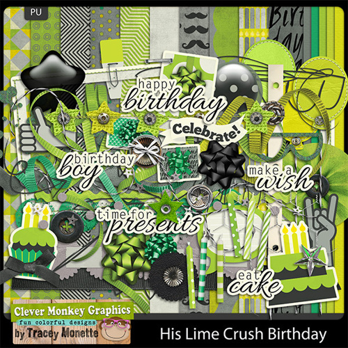 His Lime Crush Birthday by Clever Monkey Graphcis