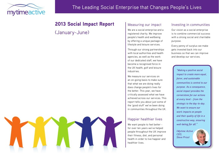 Social Impact Report - Mytime Active
