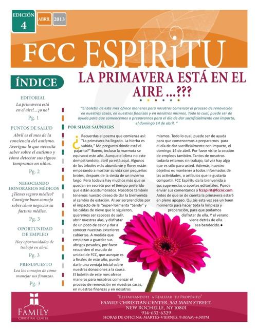 FCC Espiritu-Edición 4, ABRIL 2013