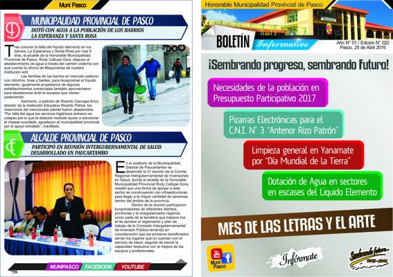 Boletín Informativo N° 022