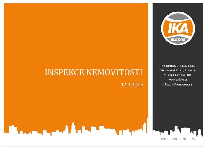 Ukázka protokolu z inspekce nemovitosti - IKA BUILDOG, s.r.o.