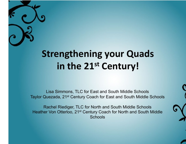 Strengthening you Quads in the 21st Century