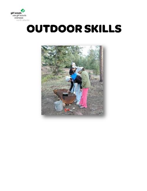 Outdoor Skills & Outdoor Cooking
