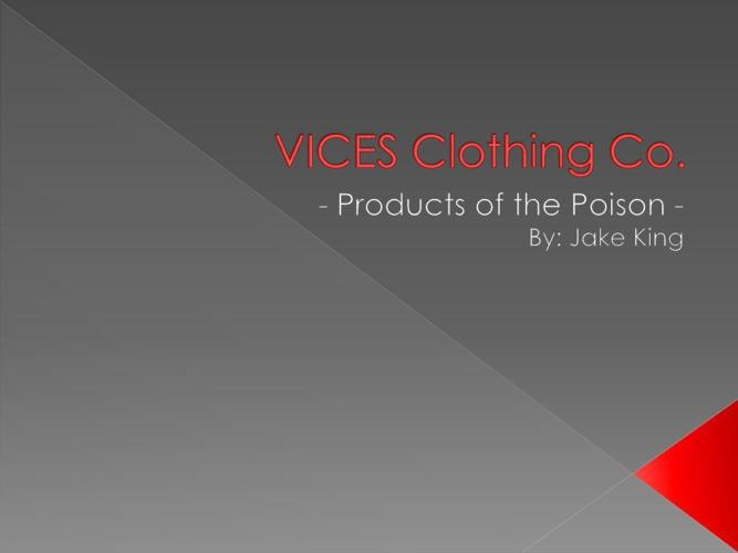 Vices digital presentation