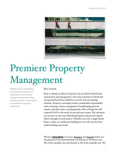 Property Management for site