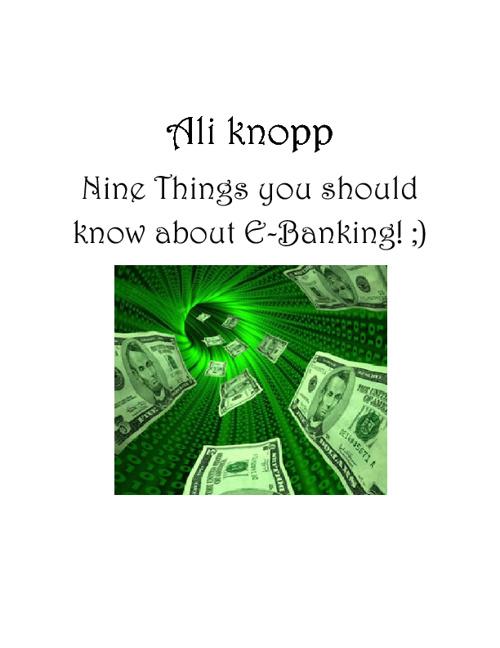 E-Banking!