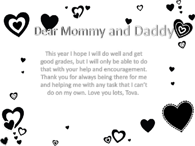 To Mommy and Daddy