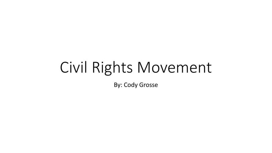 Civil Rights Movement us history