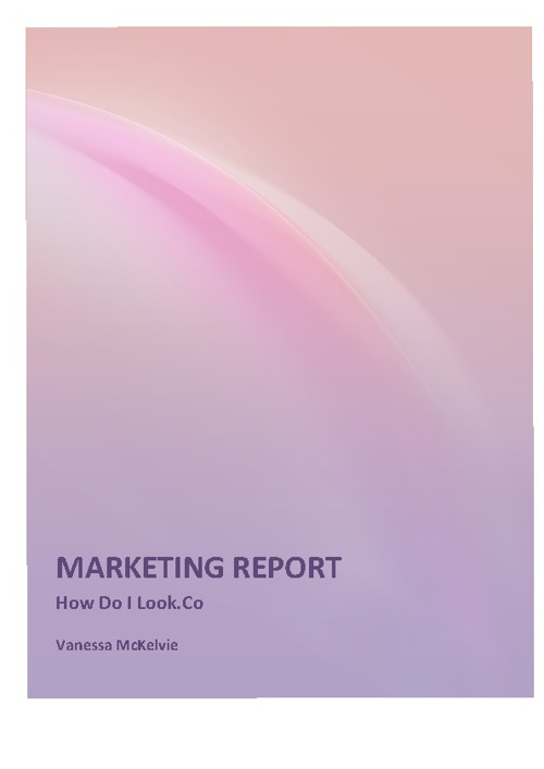 marketing report for HowDoIlook.Co