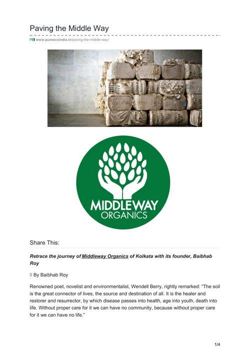 Paving the Middle Way - Rutaksha Rawat