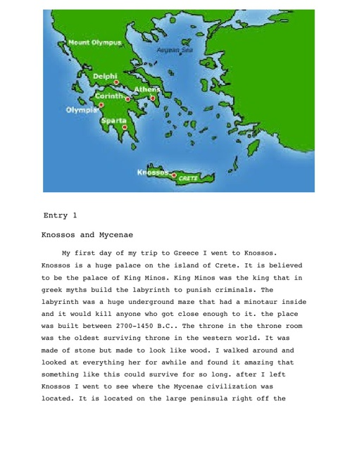 Greek Travel Journal by Catherine Price