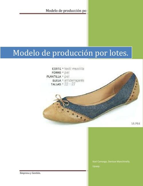 Fabricación de zapatos.