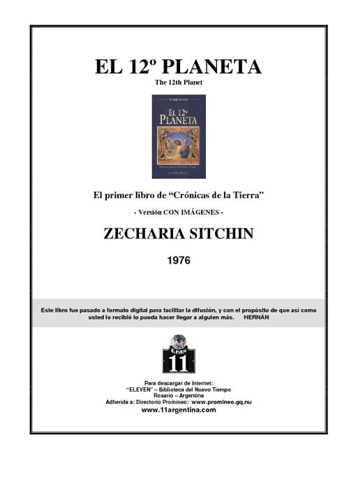Zacherias Sitchin Crónicas de la Tierra 1
