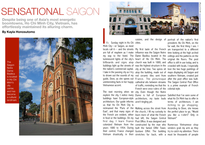Sensational Saigon - Travel Writing