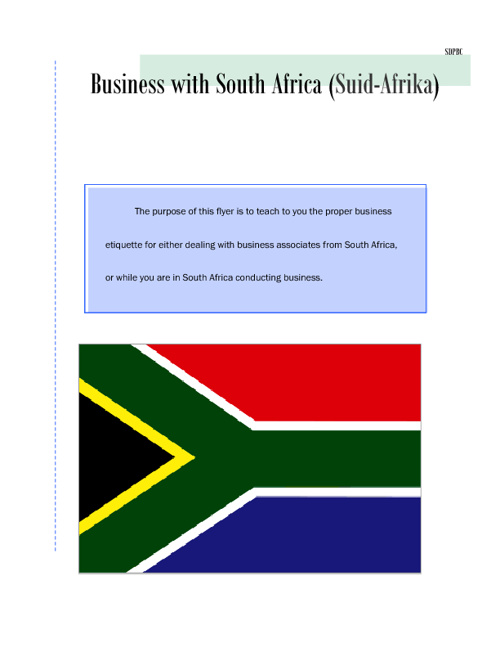 01 03 Business in South Africa