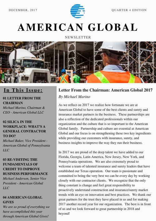 AG 2017 Q4 Newsletter