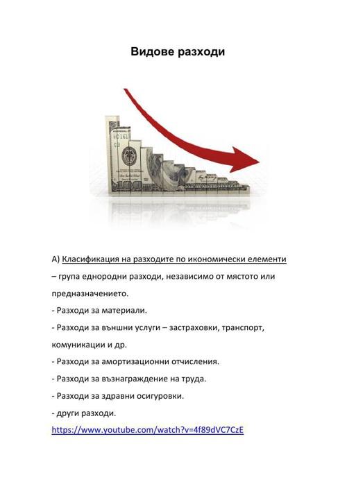 Видове разходи