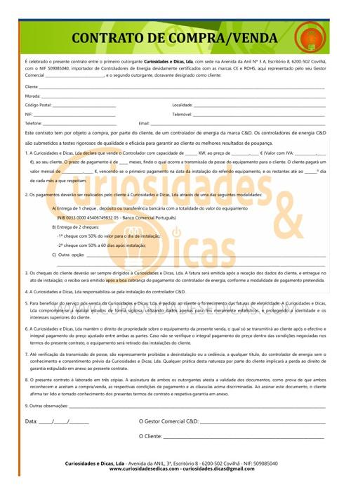 Contrato e Garantia de Cliente