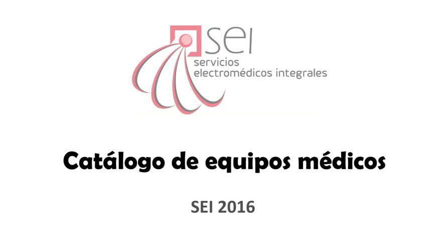 Catálogo equipo médico SEI
