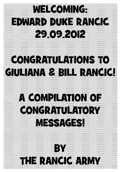 Congratulations G & B!