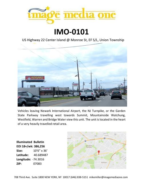 Imagemedia NY/NJ OOH inventory