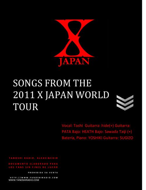 Cancionero X JAPAN