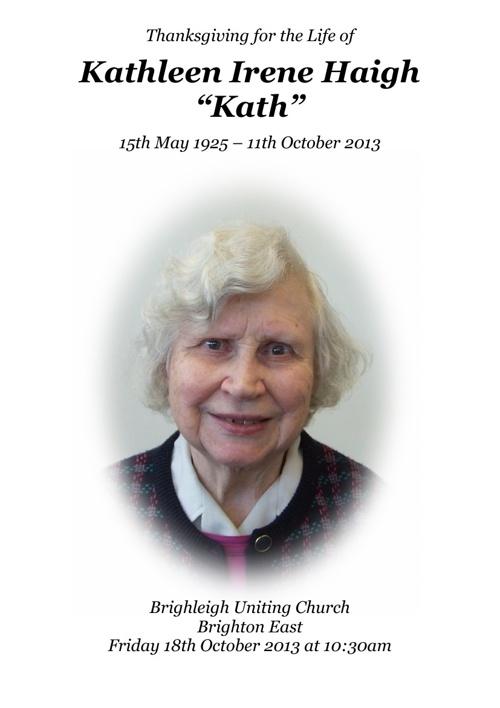 Kathleen Haigh