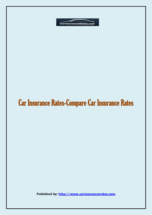 Car Insurance Rates-Compare Car Insurance Rates