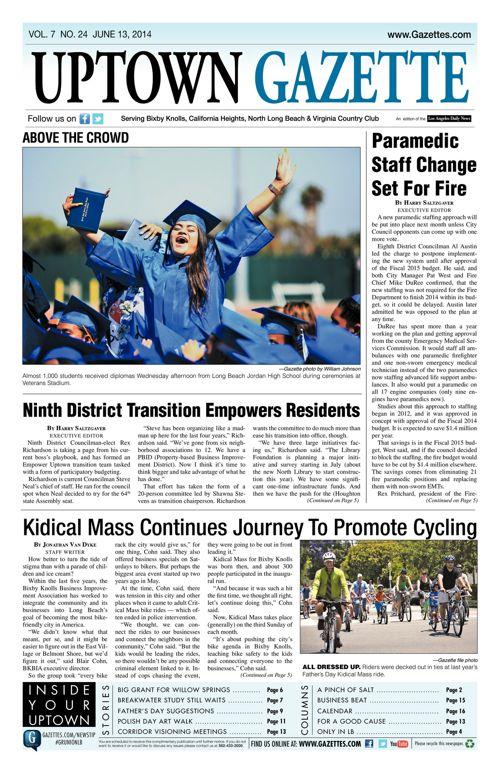 Uptown Gazette     June 13, 2014