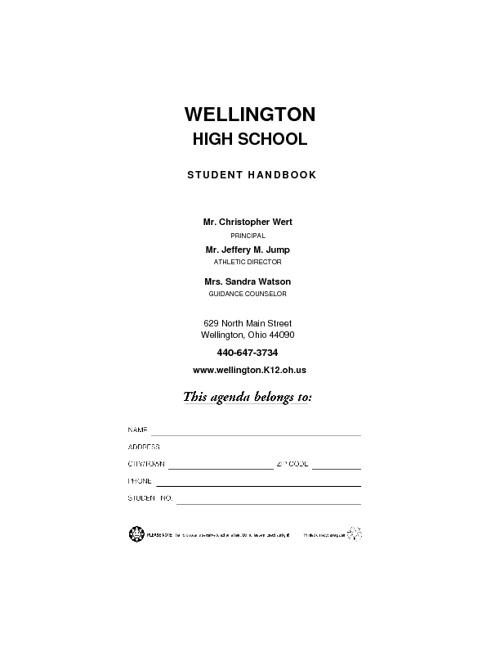 Wellington High School HandBook