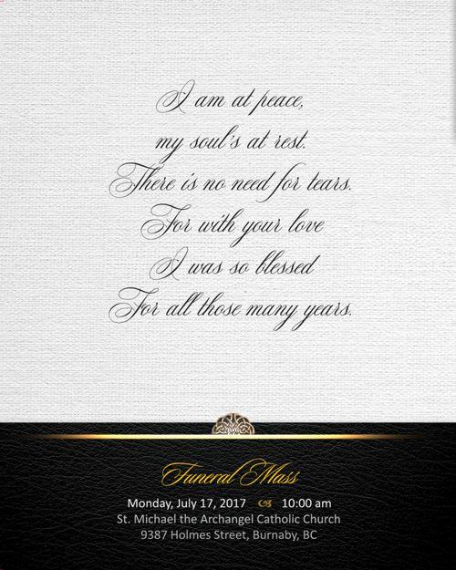 Memorial Card for Giovanni Paccagnella