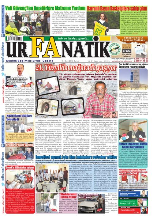 Urfanatik Gazetesi 04 10 2013