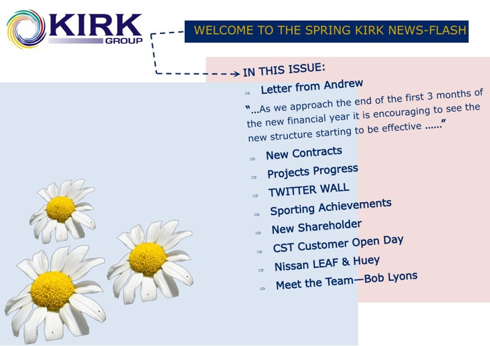 KIRK NEWS-FLASH / SPRING 2013
