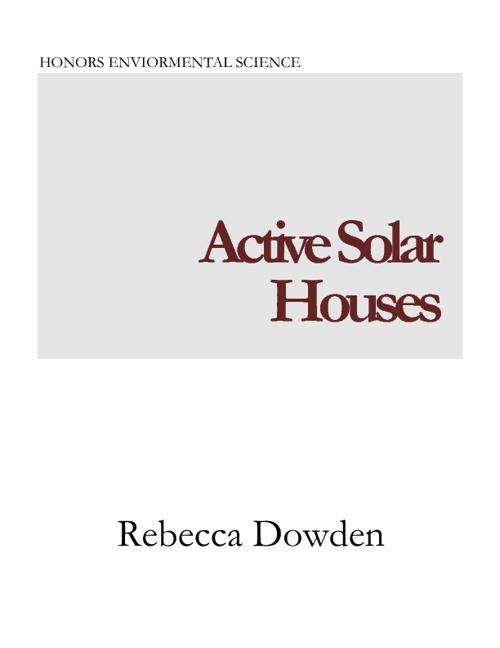 Active Solar House