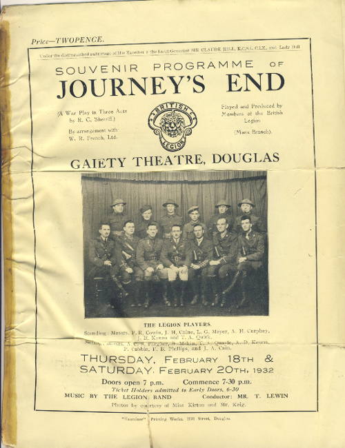 Journey's End - 1932 Programme