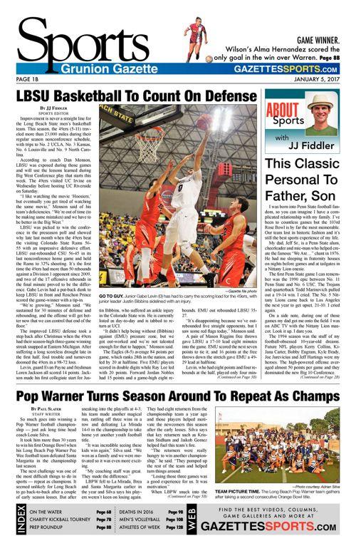 Gazette Sports     January 5, 2017