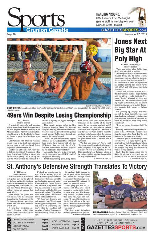 Gazette Sports | November 27, 2014