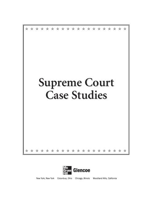 Supreme Court Case Studies