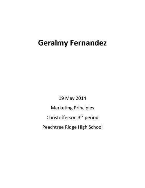 geralmy career project