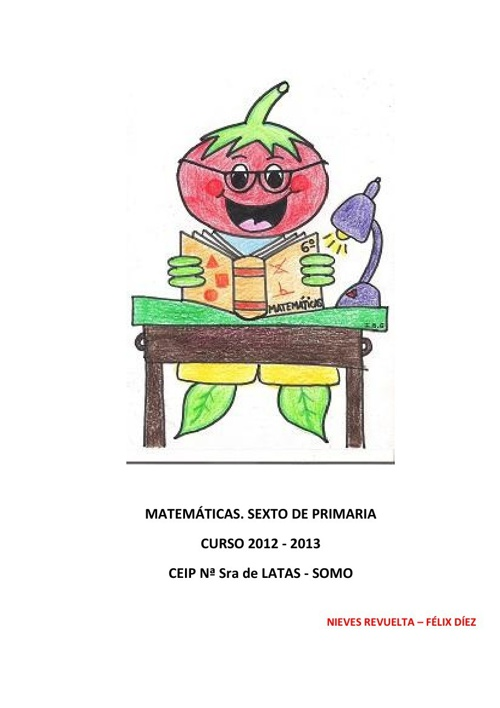 Matemáticas 6º. Curso 12-13