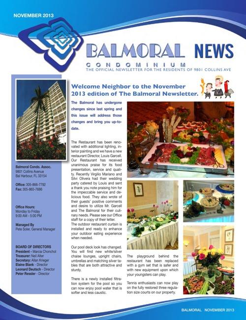 Balmoral Newsletter November
