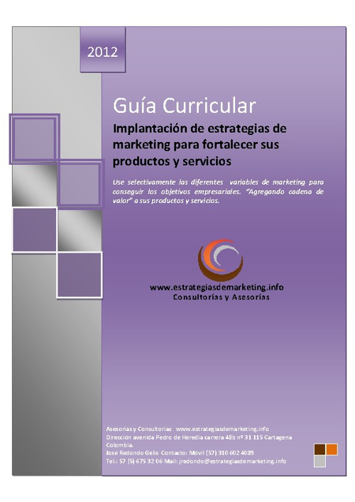 Implantacion de estrategias de marketing fortalecer productos...