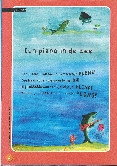 een piano in de zee