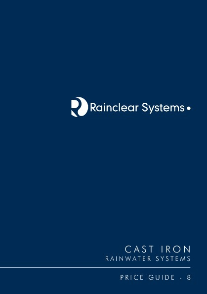 Rainclear Cast Iron Pricelist 8