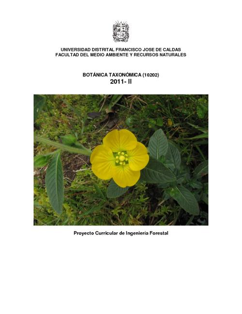 BOTANICA TAXONOMICA 2011-II