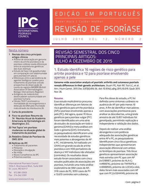 Revisão de Psoríase do IPC - julho 2016