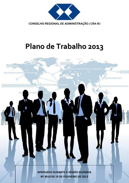 PLANO DE TRABALHO CRA-RJ 2013
