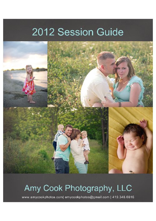 Amy Cook Photography 2012 Session Guide